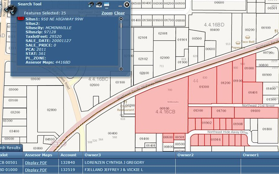 Image of screen capture of a parcel in GIS