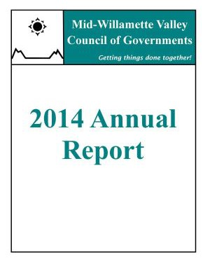 image of 2014 COG Annual Report cover