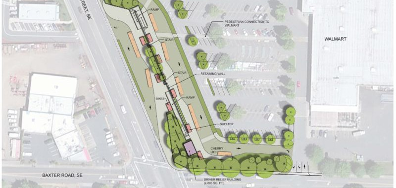 Image of the proposed South Salem Transit Center