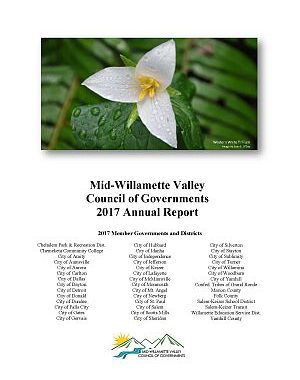 Cover image of 2017 MWVCOG Annual Report