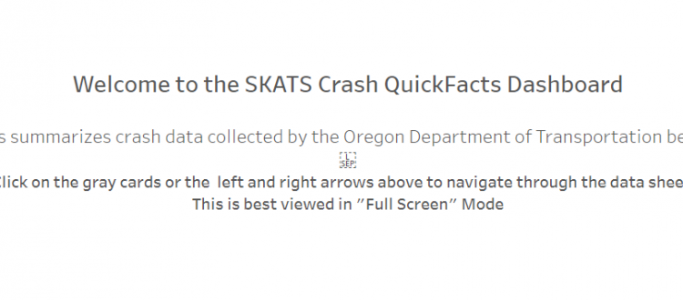 Image of the Crash QuickFacts Dashboard