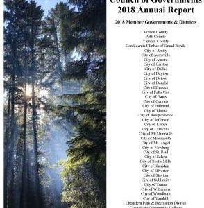 Cover for the 2018 MWVCOG Annual Report