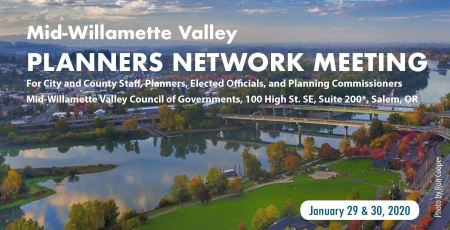 image header for flyer about the Mid-Willamette Valley Planners Network Meeting