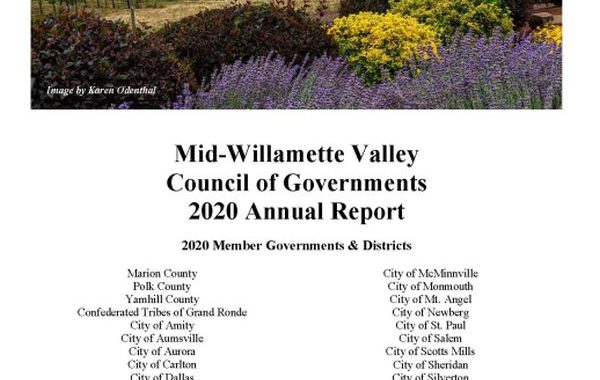 cover of 2020 MWVCOG Annual Report